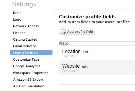 docs / User Profile Settings